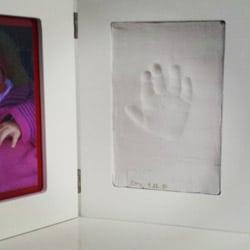 Gipsabdruck von Kinderhand