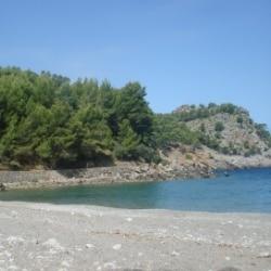 Cala Tuent an der Westküste Mallorcas