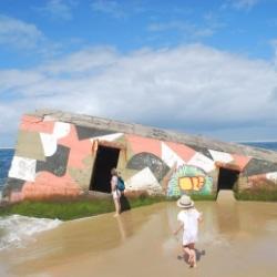 Bunker aus dem zweiten Weltkrieg am Atlantik
