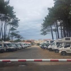 wohnmobil stellplatz in contis plage frankreich