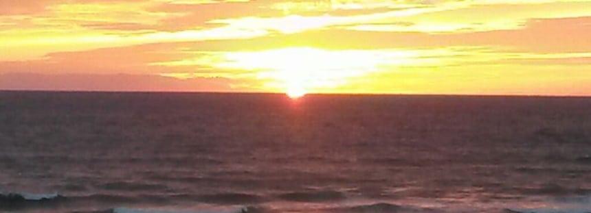 sonnenuntergang am plage de contis frankreich