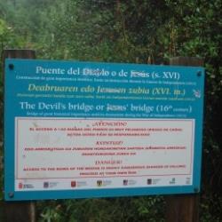 Teufelsbrücke Foz de Lumbier in Spanien