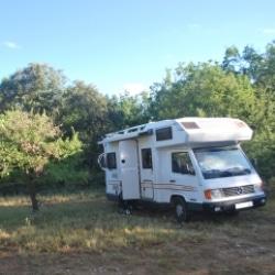 wildes Camping, Stellplatz in Navarra, Spanien