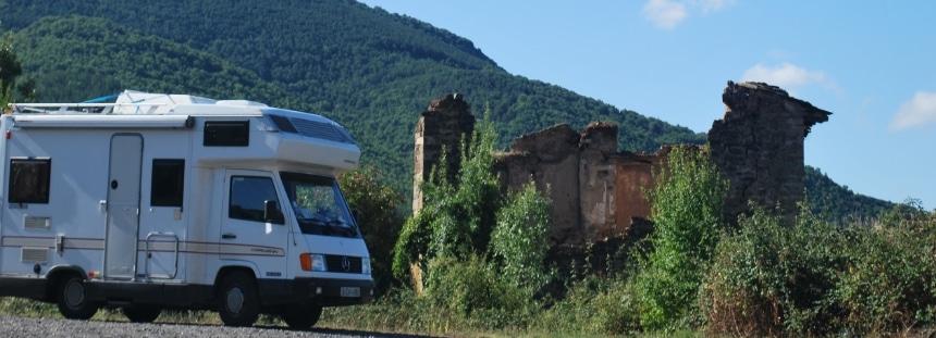 Mit dem Wohnmobil in Navarra, Spanien