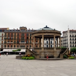 Plaza de Castillo in Pamplona, Spanien