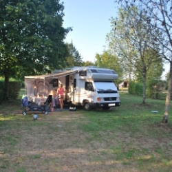 Mit dem Wohnmobil auf dem Campingplatz La Plage Blanche
