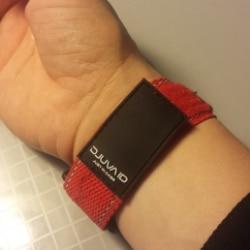 ID Armband in rot von Djuva für Kinder