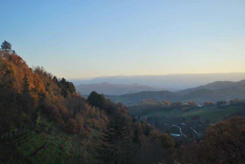 Blick von Urbino ins Tal