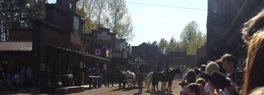 El Dorado Westernstadt Templin Stuntshow auf der Mainstreet