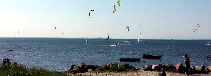 Kitesurfer an der Ostsee