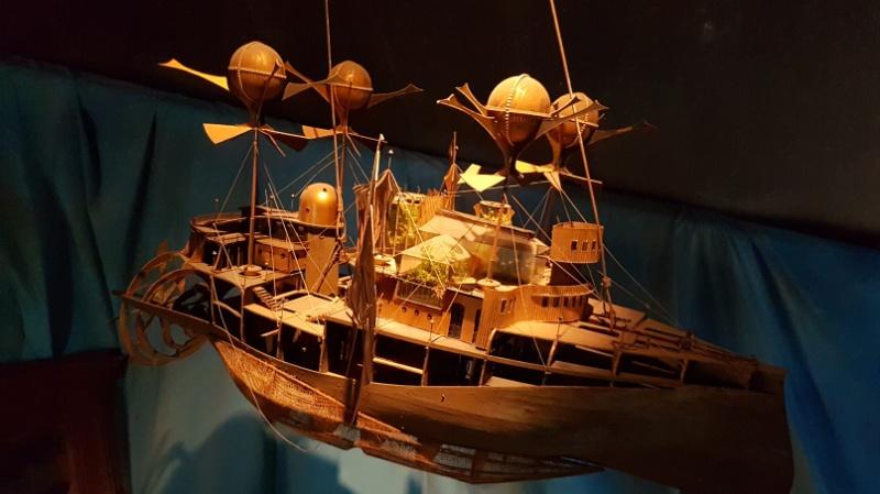 Unterseeboot-Modell im Jules Verne Museum, Amiens, Frankreich