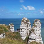 Wohnmobiltour durch Nordfrankreich Teil 9: Les Falaises in Étretat, über die Seine und dann nach Calvados in der Basse Normandie