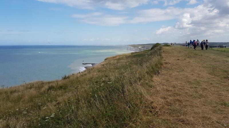 mit dem Wohnmobil an die Alabaster der Normandie in Frankreich