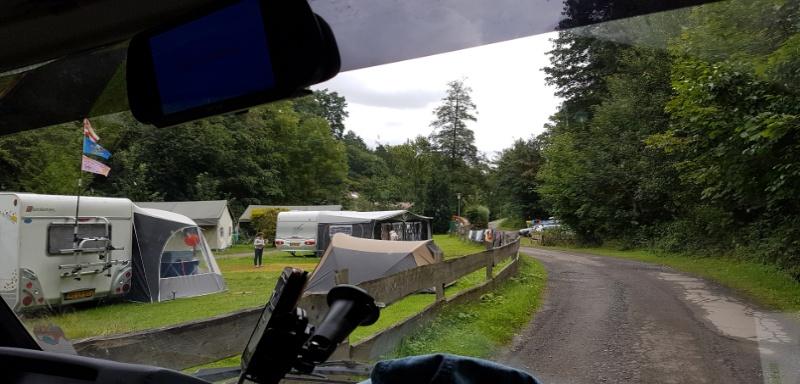 mit dem Wohnmobil auf dem Campingplatz Niemetal in Hessen