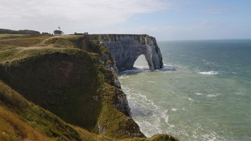 Felsnadeln in der Normandie, Frankreich
