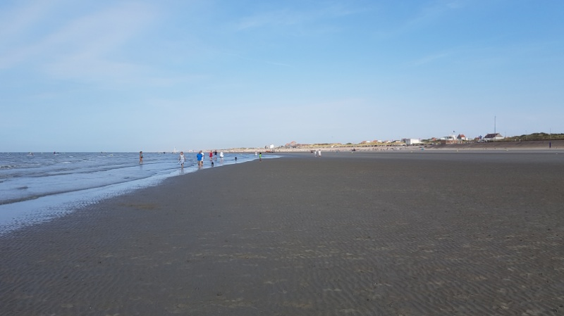 Joggen am Strand bei Dünkirchen