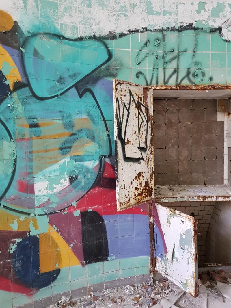 Graffitti in den Beelitzer Heilstätten
