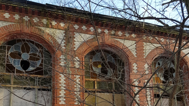 verfallenes Sanatoriumsgebäude, Beelitzer Heilstätten