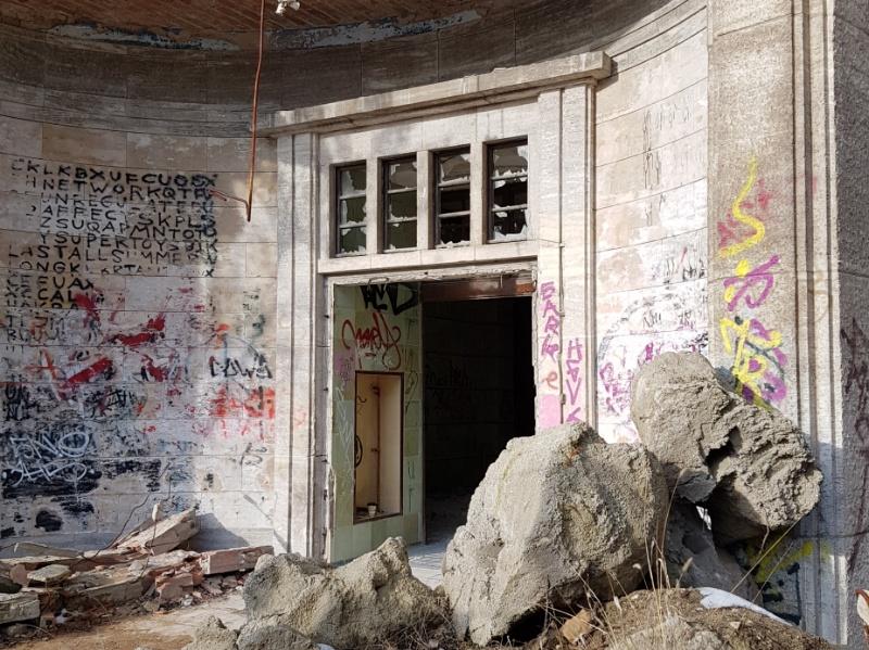 Eingangsportal der alten Chirurgie, Beelitzer Heilstätten