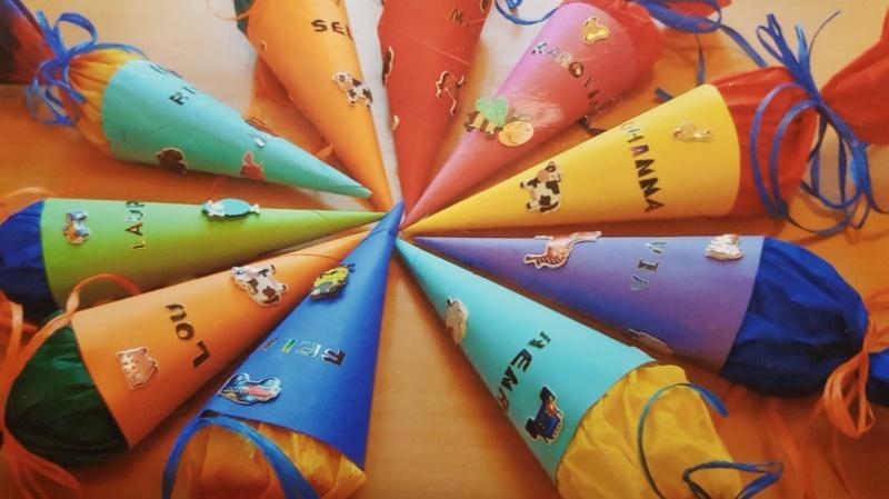 Schultüten für Vorschulkinder in der Waldkita