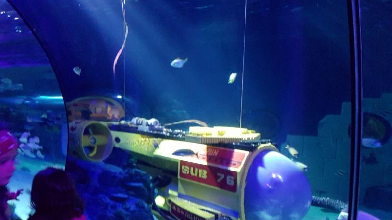 In der Indoor Unterwasserwelt leben über 2.000 Fische zusammen mit Modellen aus über einer Million Legosteinen