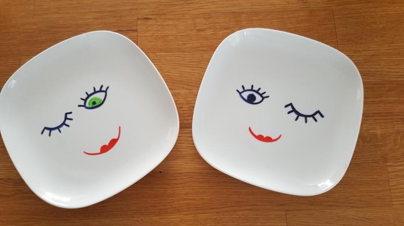 Gut gemocht DIY Anleitung und Ideen für das Bemalen von Geschirr mit Kindern | WV27