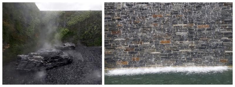 Nebelgarten und Wasserfallgarten