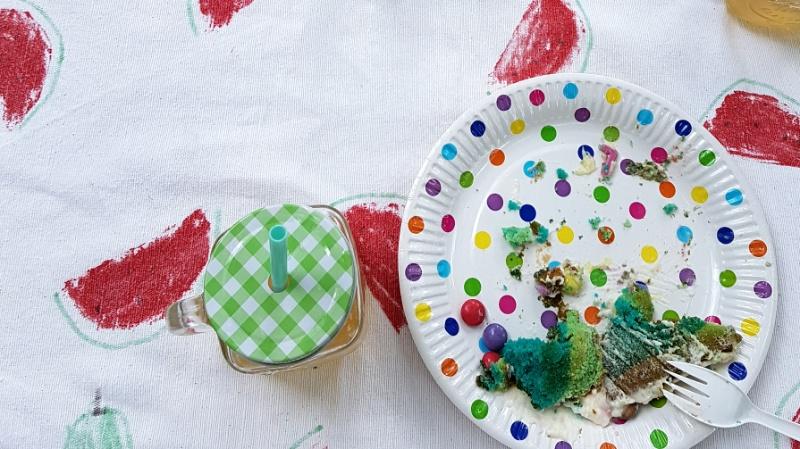 DIY Tischdecke mit Wassermelonenprint