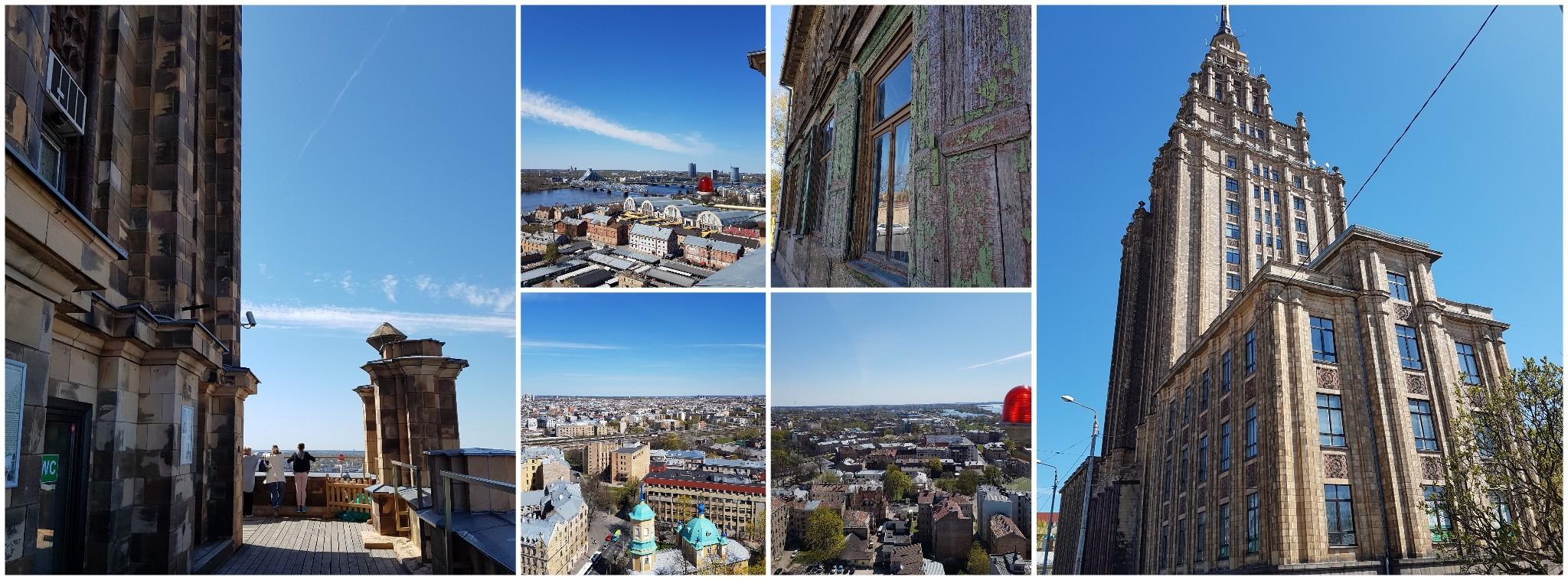 Panoramablick von der Lettischen Akademie der Wissenschaften