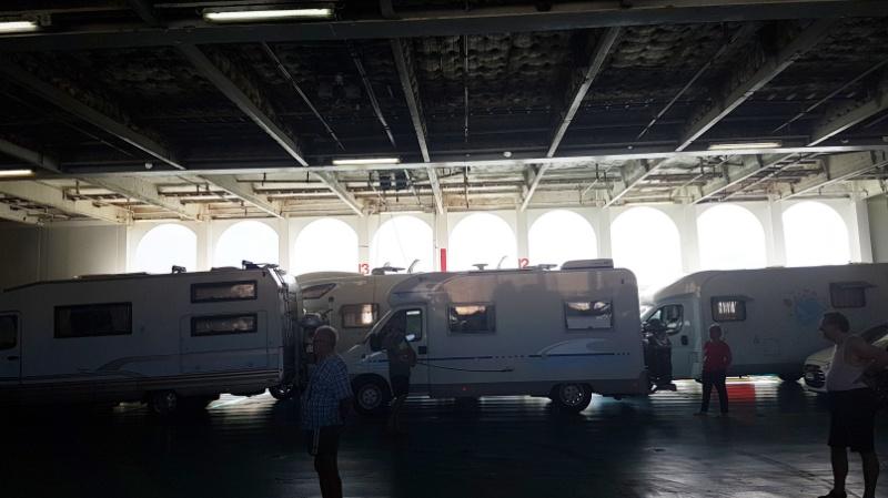 Mit dem Wohnmobil von Ancona nach Patras, Camping on Bord