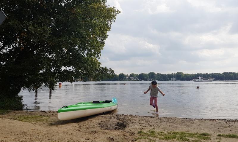 Kajakfahren mit Kindern auf der Havel