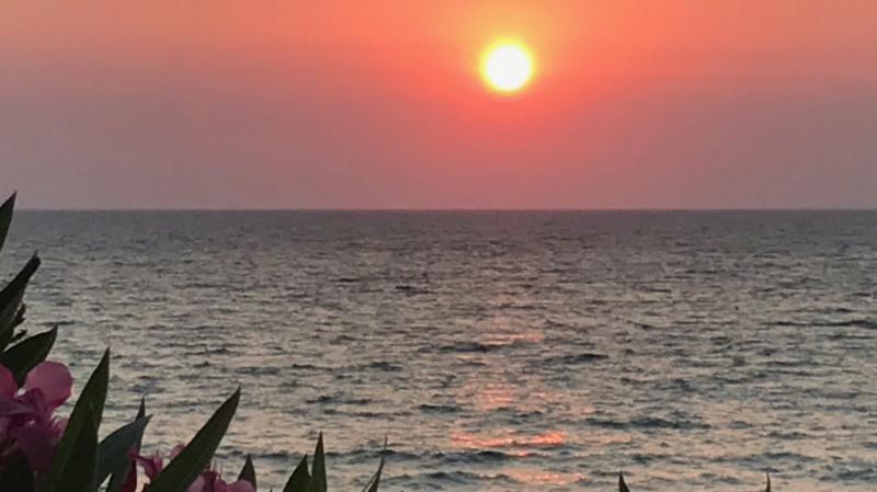 Sonnenuntergang bei Kyllini