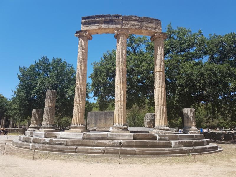reiche Kulturgeschichte auf den Peleponnes, Olympia Ausgrabungsstätte