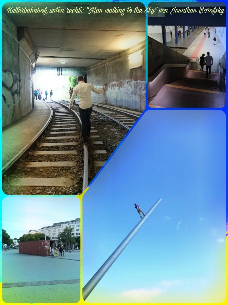 documenta 14, Kulturbahnhof, Man walking to the Sky