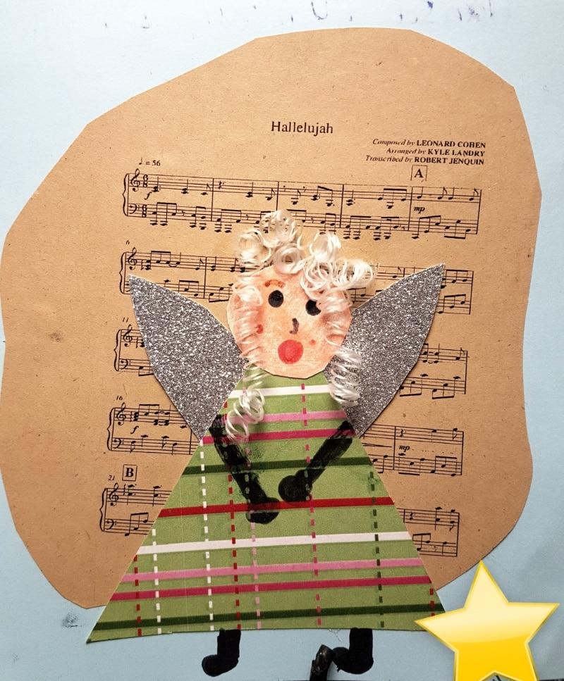 Weihnachtsengel Weihnachtskarte selbst basteln