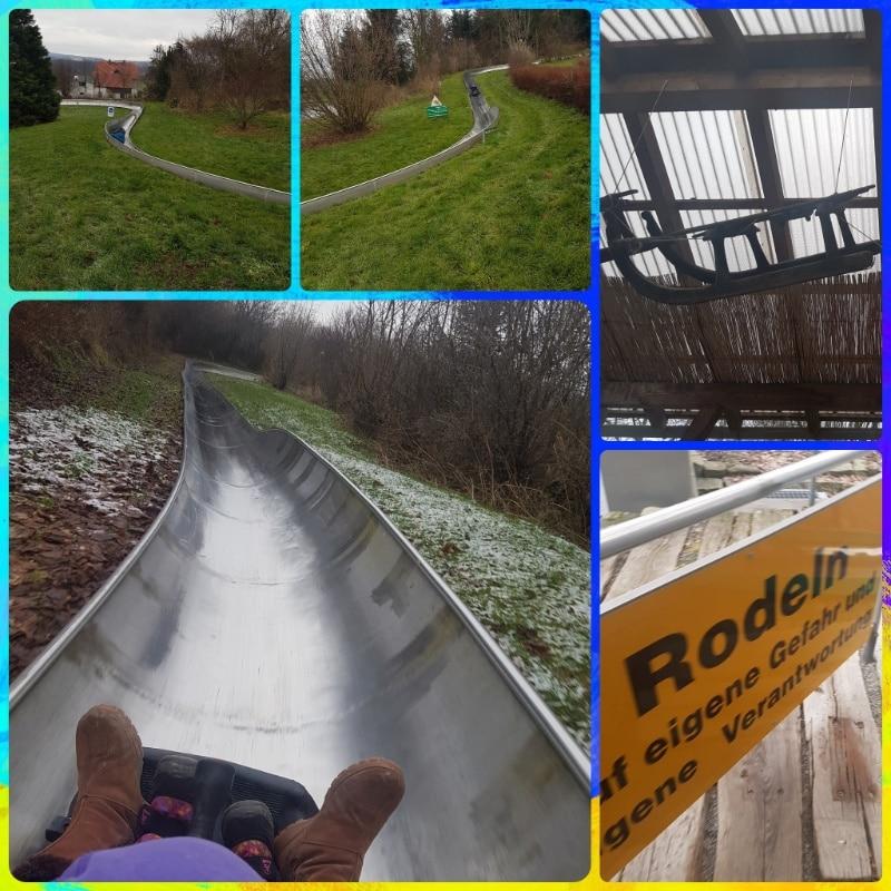 Sommerrodellbahn, Rodelpark in Oberoderswitz, Sachsen, Weihnachtsferien