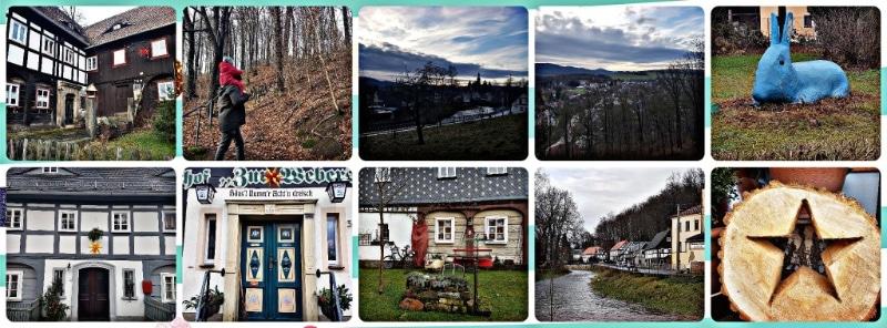 Spaziergang durch Großschönau in Sachsen