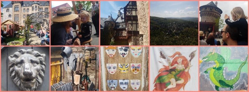 Urlaub im Harz, Reisen mit Kindern, Schloss Wernigerode, Walpurgis, Ritterfest, Mittelalter, Markt