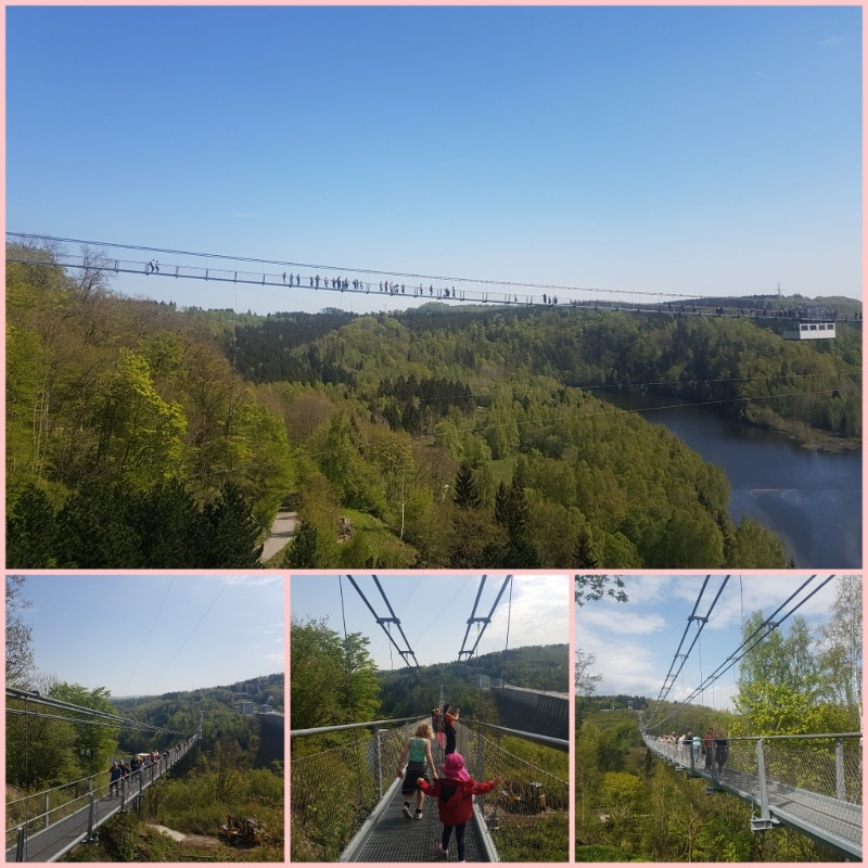 Hängebrücke, Urlaub im Harz, Titan RT, Rapprodetalsperre, Reisen mit Kindern