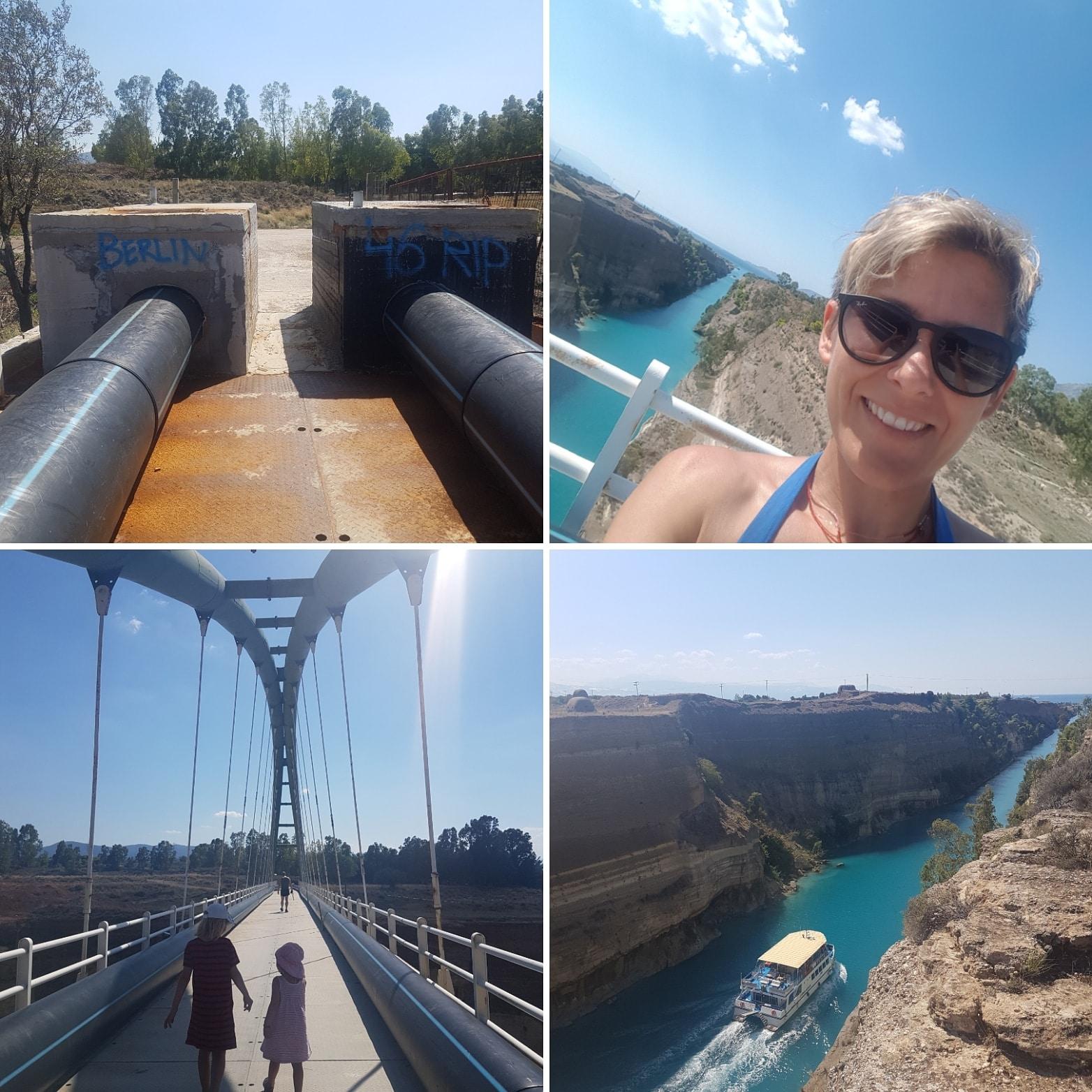 Kanal von Korinth, Griechenland, Peleponnes, Reisen mit Kindern, Urlaub, Ferien, Camping, Wohnmobil, Reisen