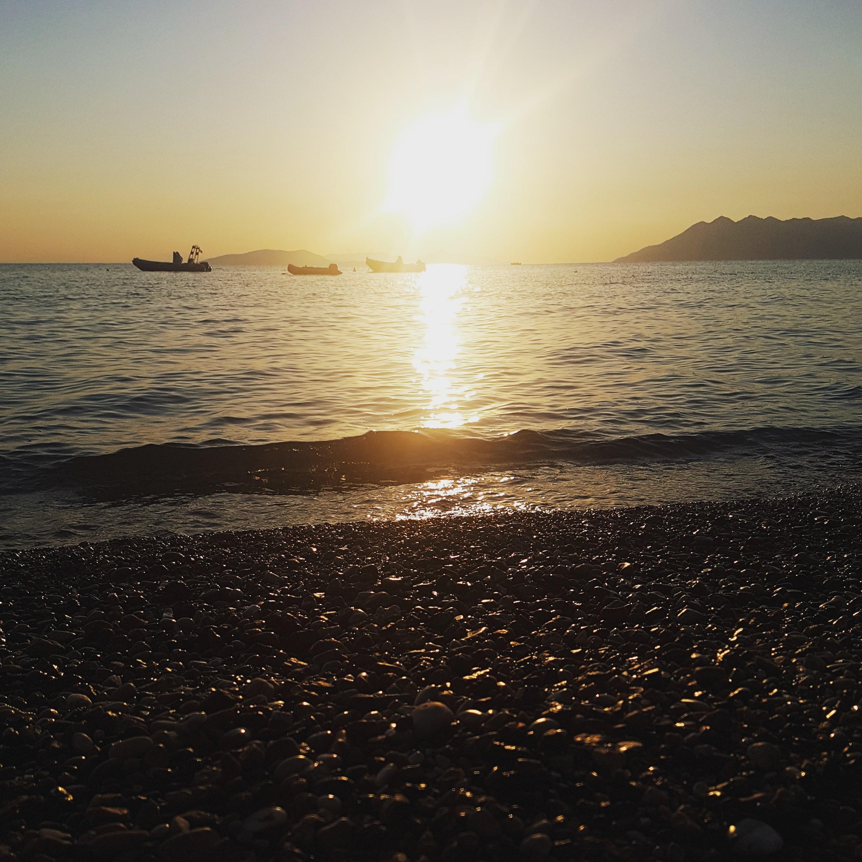 Campingplatz Bekas, Peleponnes, Griechenland, Camping, Wohnmobil, Reisen mit Kindern, Urlaub, Sommerferien, Strand, Sonnenaufgang
