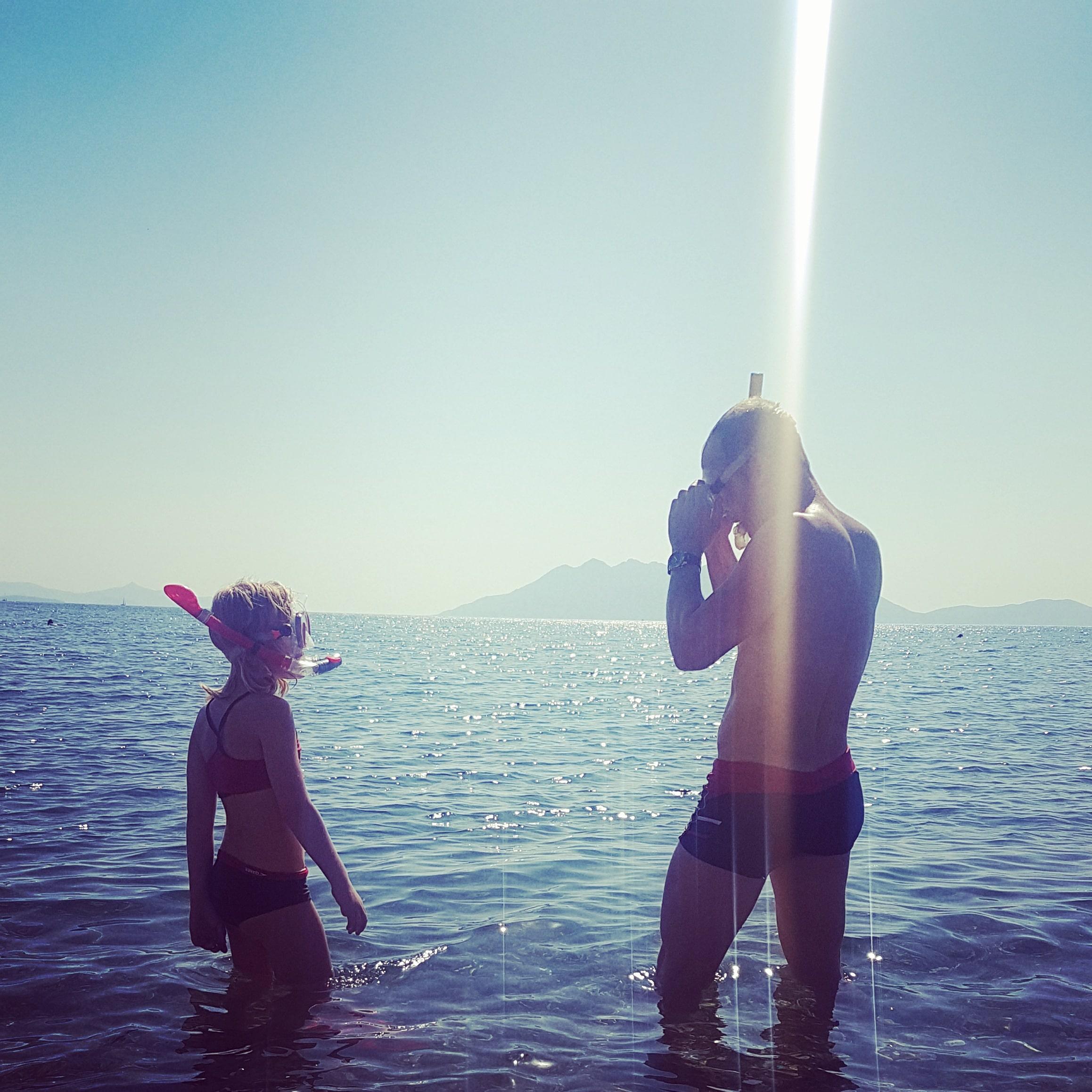 versunkene Stadt, Tauchen, schnorcheln, Peleponnes, Griechenland, Camping, Wohnmobil, Reisen mit Kindern, Urlaub, Sommerferien, Strand