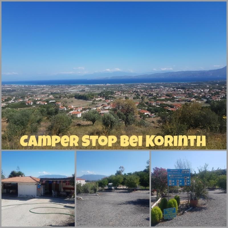Stellplatz, Korinth, Griechenland, Peleponnes, Reisen mit Kindern, Urlaub, Ferien, Camping, Wohnmobil, Reisen