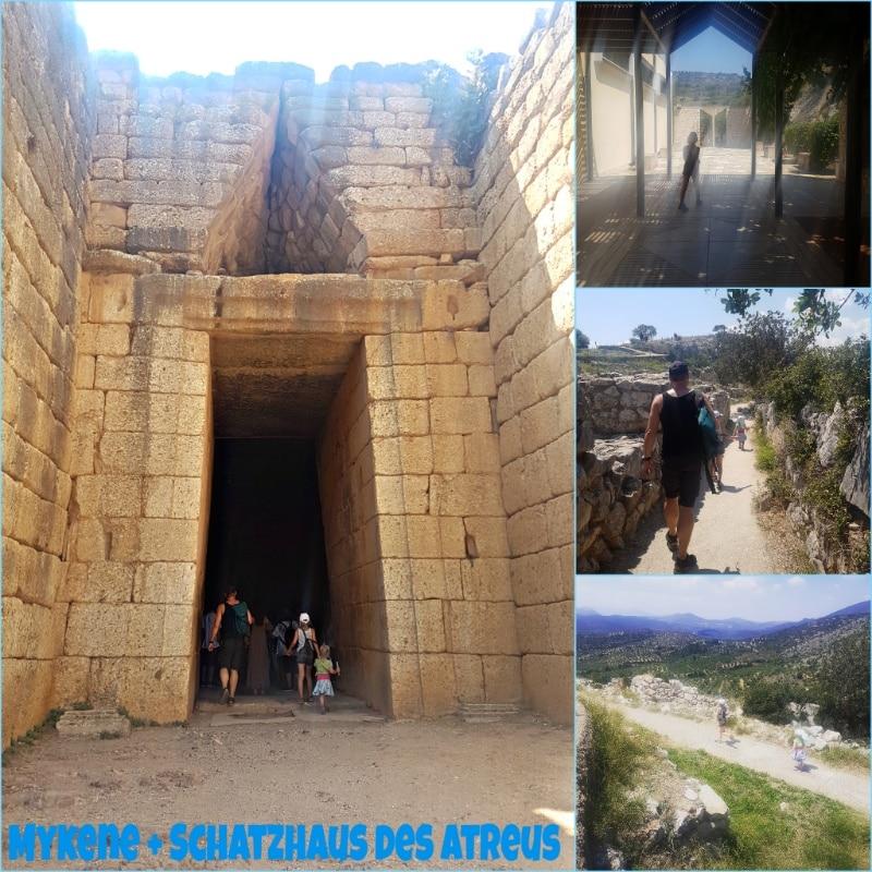 Mykene, Schatzhaus des Atreus, Peleponnes, Griechenland, Antike, mykenische Kultur, Wohnmobil, campen, camping, reisen mit Kindern