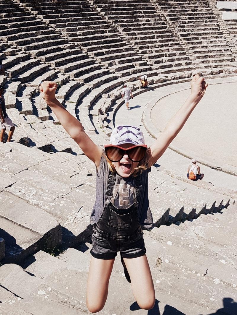 antikes Theater von Epidaurus, Peleponnes, Griechenland, reisen mit Kindern, Sommerurlaub, Camping, campen, Wohnmobil, womo
