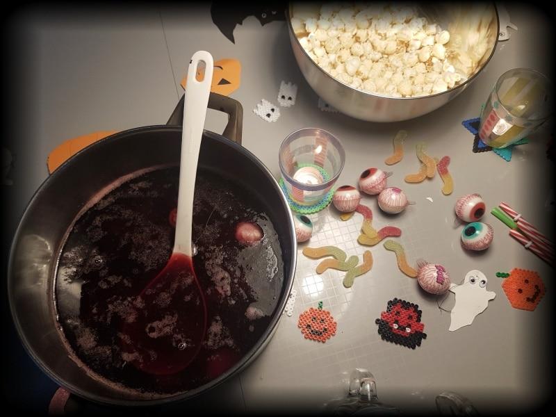 helloween, Bowle, Blutbowle, Bowle ohne alkohol, bowle für kinder