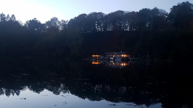 Mecklenburg, Feldberger Seenlandschaft, Schmaler Luzin, handbetriebene Seilfähre, Fähre, See, Hullerbusch