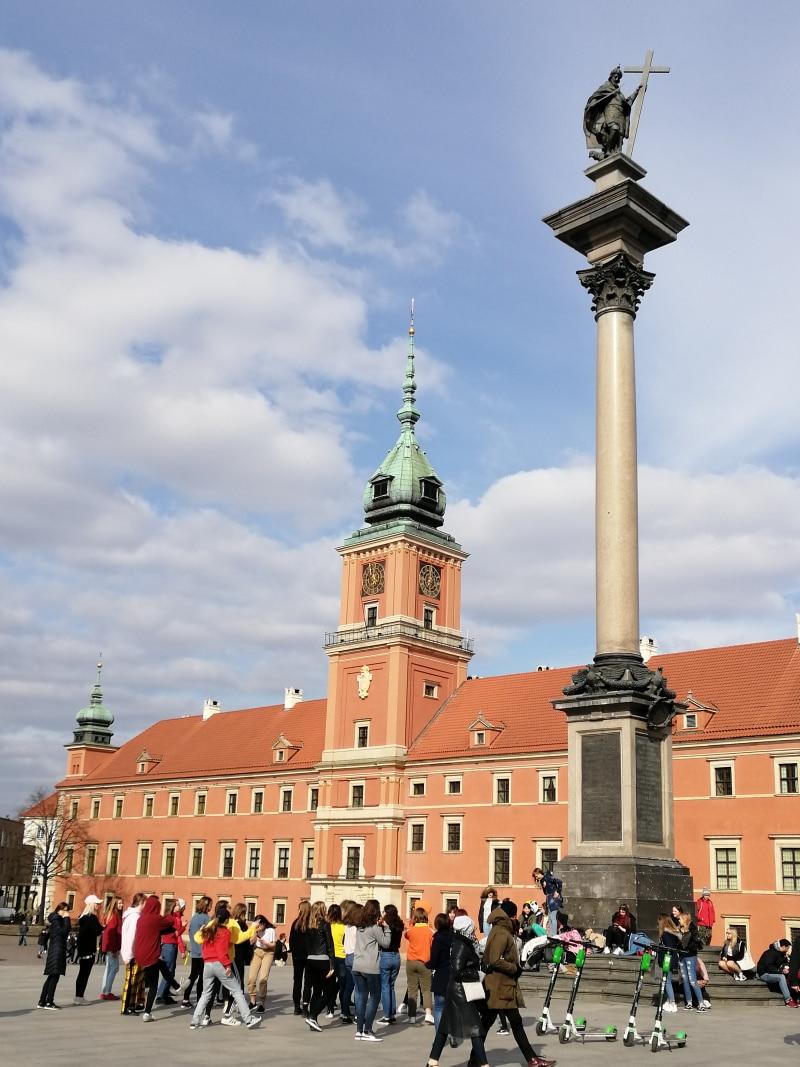 Warschau, Warsaw, Polen, Poland, Citytrip, Reisen, Urlaub, Ferien, Stadt, Wochenendtrip, Altstadt, Schlossplatz, Sigismundsäule, Königsschloss