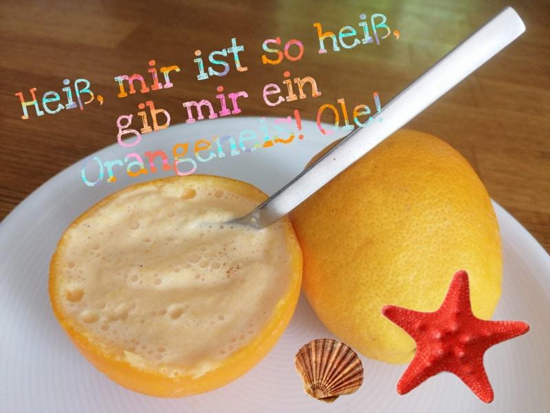 Orangeneis selber machen, Orangen, dessert, nachtisch, rezept, frozen joghurt, zitrone, lemon, wassermelone, obst, fruits, früchte, eicherkuchen, tomatenkonfitüre, tomatiga, fet a soller, mallorca